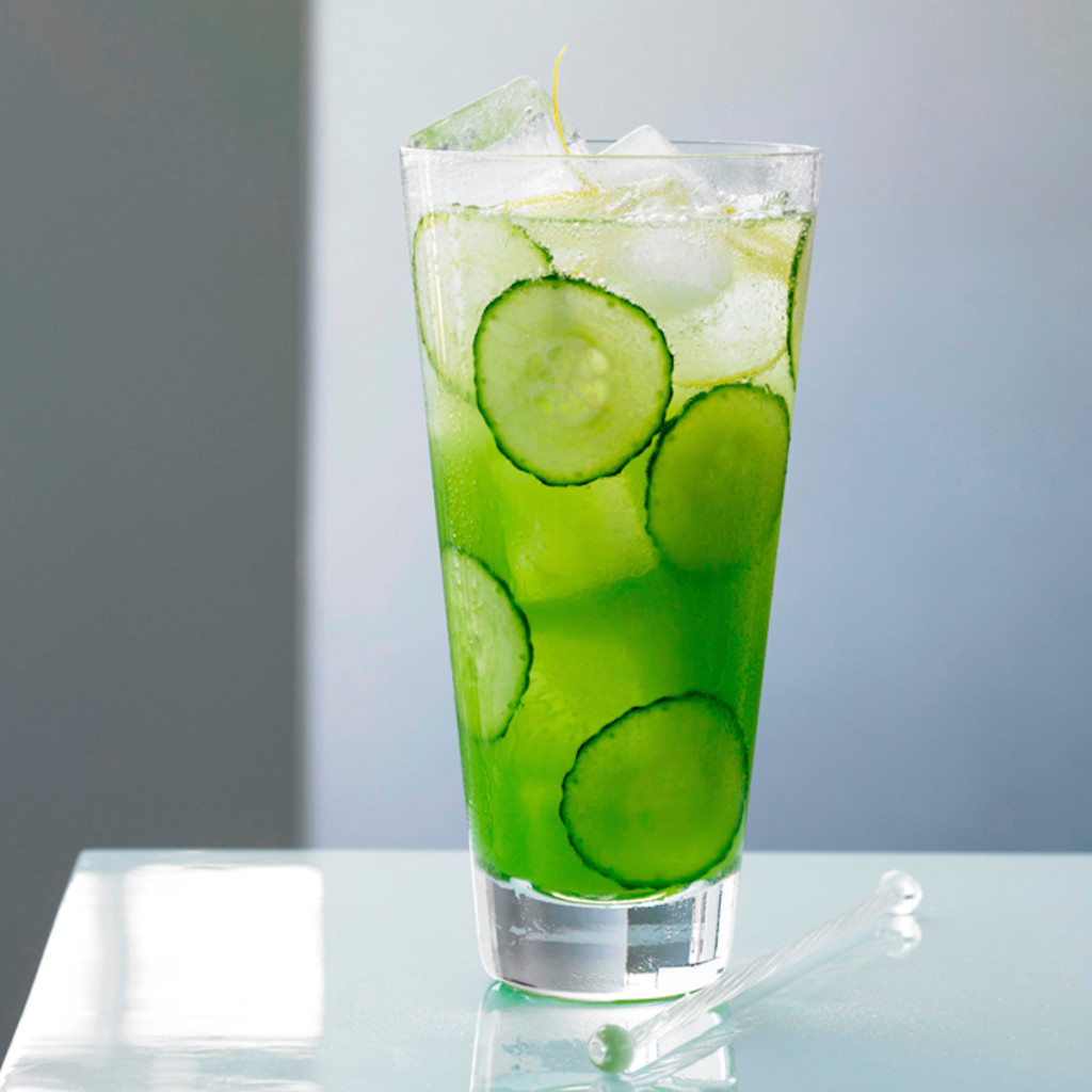 Cucumber Basil Lime Cocktail